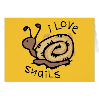 i love snails card p137990240380615677envwi 400 I Love Snails Greeting Cards by pinkinkart