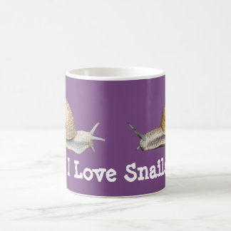 I Love Snails Snail Design Coffee Mug