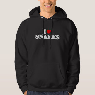 I LOVE SNAKES HOODED PULLOVERS