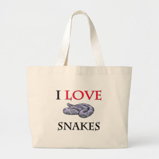 I Love Snakes Large Tote Bag