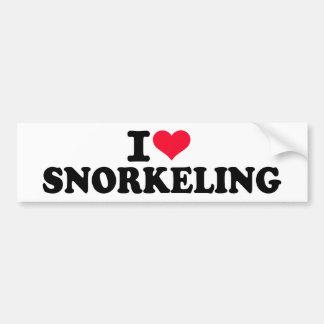 I love Snorkeling Bumper Sticker