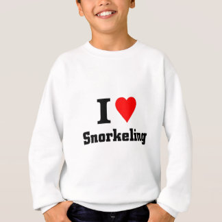 I love Snorkeling Sweatshirt