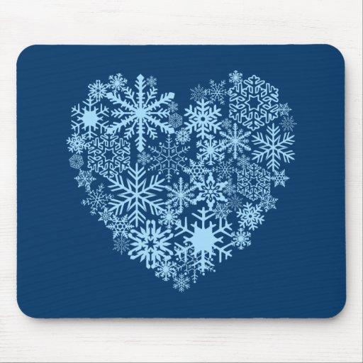I Love Snow Mousepad