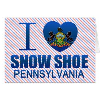 I Love Snow Shoe, PA Card