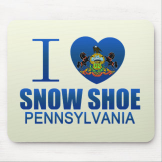 I Love Snow Shoe, PA Mouse Pads