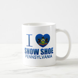I Love Snow Shoe, PA Coffee Mugs