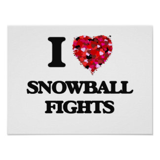 I love Snowball Fights Poster