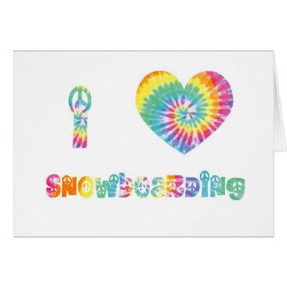 I love snowboarding. card