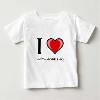 I Love Snowmobiling Baby T-Shirt