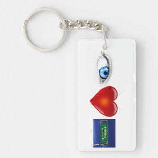 """""""I Love Sobriety"""" Keychain"""