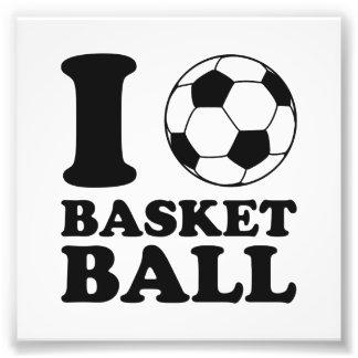 I Love Soccer Ball Basketball Photo Art