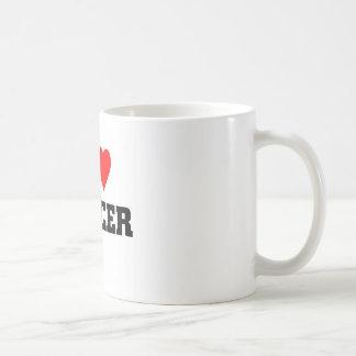 I love soccer basic white mug