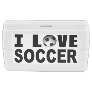 I Love Soccer Chest Cooler