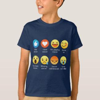 I Love Soccer Emoticon (emoji) Funny Sayings T-Shirt