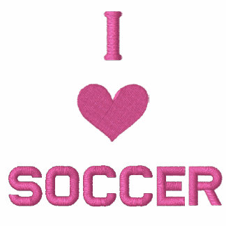 """I LOVE SOCCER"" SHIRT - Customized EMBROIDERY Embroidered Ladies Polo"