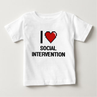 I Love Social Intervention Digital Design Shirt