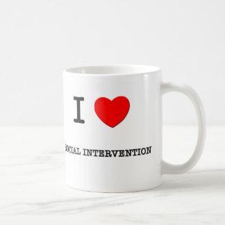 I Love SOCIAL INTERVENTION Coffee Mugs