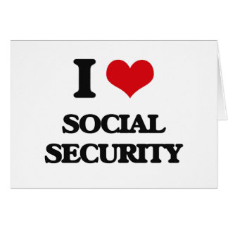 I love Social Security Card