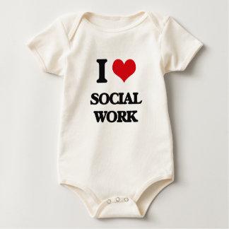 I love Social Work Baby Bodysuit