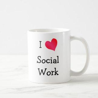 I Love Social Work Basic White Mug