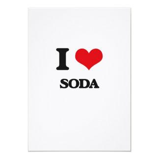 I love Soda 13 Cm X 18 Cm Invitation Card
