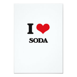 I love Soda 9 Cm X 13 Cm Invitation Card