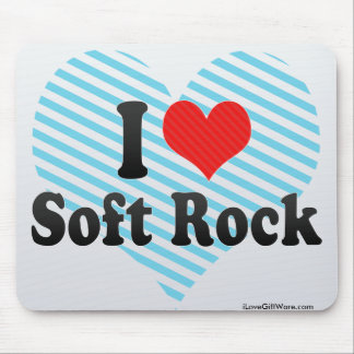 I Love Soft Rock Mouse Pads