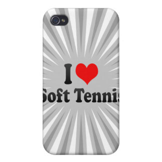 I love Soft Tennis Case For iPhone 4