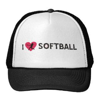 I LOVE SOFTBALL CAP