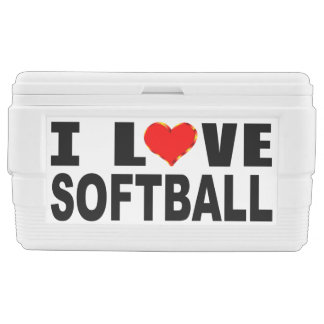 I Love Softball Chest Cooler