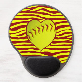 I Love Softball Gel Mouse Pad
