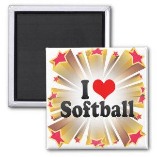 I Love Softball Fridge Magnets