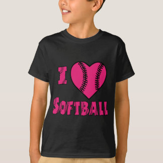 I love Softball, melon T-Shirt