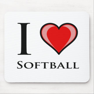 I Love Softball Mousepads