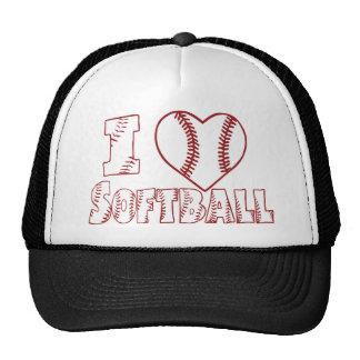 I love Softball, white Cap