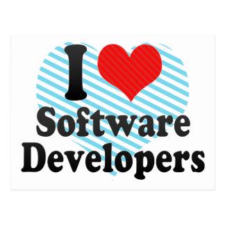 I Love Software Developers Post Cards