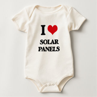 I Love Solar Panels Baby Bodysuit