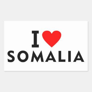 I love Somalia country like heart travel tourism Rectangular Sticker
