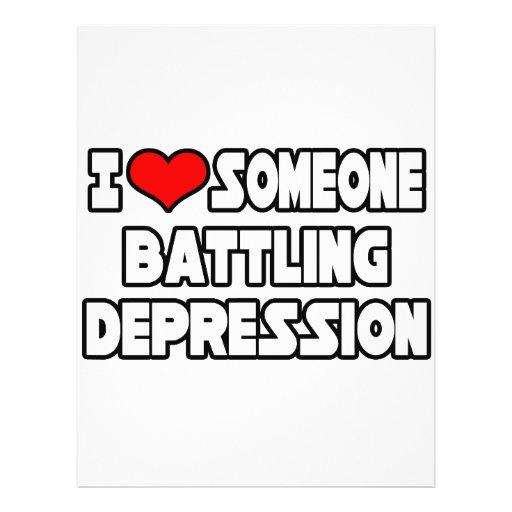 I Love Someone Battling Depression Flyer Design