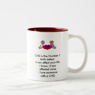 I love someone with a CHD Two-Tone Coffee Mug