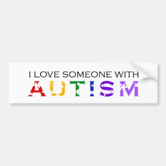 I Love Someone With Autism Car Bumper Sticker