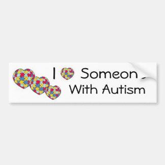 I Love Someone With Autism Bumpersticker Bumper Sticker