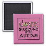 """I Love Someone With Autism"" Fridge Magnets"