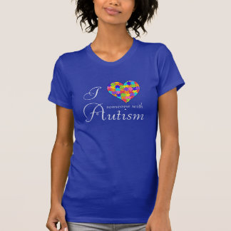 """""""I Love Someone with Autism"""" Heart Pieces T-Shirt"""