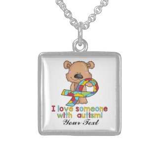 I Love Someone With Autism Sterling SilverNecklace Sterling Silver Necklace
