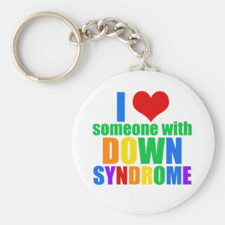 I Love Someone With Down Syndrome Key Ring