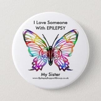 I love someone with epilepsy 7.5 cm round badge