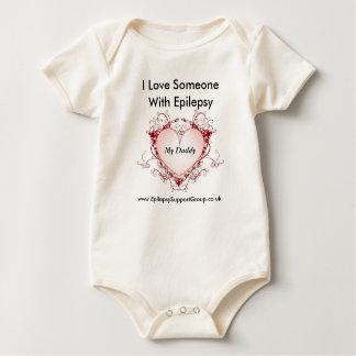I love someone with epilepsy - my daddy baby bodysuit