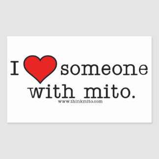I love someone with Mito Rectangular Sticker