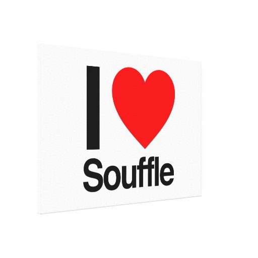 i love souffle stretched canvas print